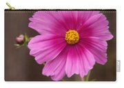 Pink Flowers And Wood  Carry-all Pouch