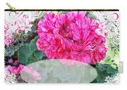 Pink Geranium Greeting Card Blank Carry-all Pouch