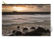 Pink Granite Coast At Sunset Carry-all Pouch