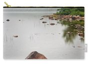 Pink Granite In Jordan Pond At Acadia Carry-all Pouch by Steve Gadomski