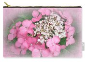 Pink Lace Cap Hydrangea Flowers Carry-all Pouch