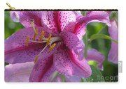 Pink Lily After The Rain Carry-all Pouch