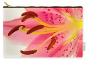 Pink Lily Square Version Carry-all Pouch