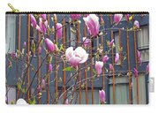 Pink Magnolia. Square Format Carry-all Pouch