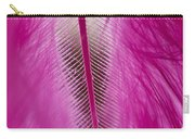 Pink Marabou Macro Carry-all Pouch
