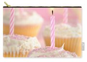 Pink Party Cupcakes Carry-all Pouch by Amanda Elwell