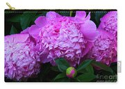 Pink Peonies In The Rain Carry-all Pouch