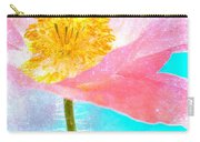 Pink Poppy On Blue Carry-all Pouch
