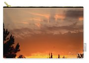 Pink Rays And Orange Skies Carry-all Pouch