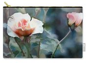 Pink Rose Bush Carry-all Pouch
