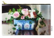 Pink Roses And Ivy Carry-all Pouch by Susan Savad