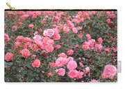 Pink Roses Canvas Carry-all Pouch