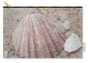 Pink Scallop Shell Carry-all Pouch