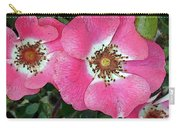 Pink Single Roses Carry-all Pouch