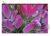 Pink Spider Flower Carry-all Pouch
