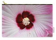 Pink Swirl Hibiscus Carry-all Pouch