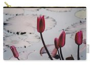 Pink Water Lily Buds Carry-all Pouch