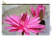 Pink Water Lily Duo Carry-all Pouch