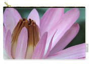 Pink Water Lily Macro Carry-all Pouch by Sabrina L Ryan