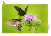 Pipevine Swallowtails In Tandem Carry-all Pouch