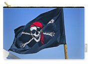 Pirate Flag Skull With Red Scarf Carry-all Pouch