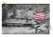 Pirates And Trains Black And White Carry-all Pouch