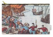 Pirates Burn Havana, 1555 Carry-all Pouch by Photo Researchers