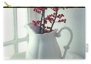 Pitcher With Red Berries  Carry-all Pouch