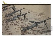 Pk Machine Guns And Spent Cartridges Carry-all Pouch