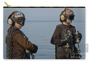 Plane Captains Stand By During Aircraft Carry-all Pouch