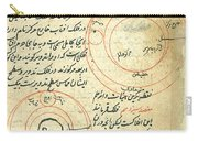 Planetary Diagram, Islamic Astronomy Carry-all Pouch by Science Source