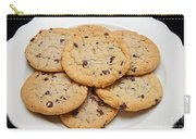 Plate Of Chocolate Chip Cookies Carry-all Pouch
