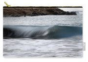 playing with waves 1 - A beautiful image of a wave rolling in noth coast of Menorca Carry-all Pouch