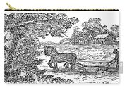 Ploughing, 19th Century Carry-all Pouch by Granger