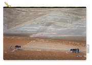 Ploughing In The Atlas Mountains Carry-all Pouch