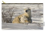 Polar Bear With Cub, Watchee Carry-all Pouch