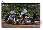 Police Motorcycles Carry-all Pouch by Paul Ward