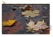 Pond Leaf Dew Drops Carry-all Pouch by LeeAnn McLaneGoetz McLaneGoetzStudioLLCcom