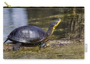 Pond Turtle Basking In The Sun Carry-all Pouch