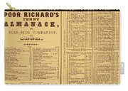Poor Richards Penny Almanack, 1852 Carry-all Pouch