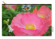 Poppies And Pollinator Carry-all Pouch