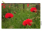 Poppies By The Roadside In Northumberland Carry-all Pouch