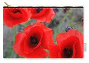 Poppies Of Stone Carry-all Pouch by Empty Wall