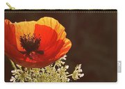 Poppy And Lace Carry-all Pouch