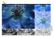 Poppy Blue - Macro Flowers Fine Art Photography Carry-all Pouch