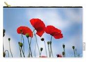 Poppy Flowers 08 Carry-all Pouch by Nailia Schwarz