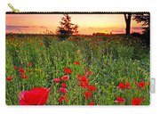 Poppy Patch And Previsualization Carry-all Pouch