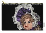 Porcelain Doll - Head And Bonnet Carry-all Pouch