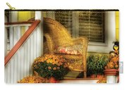 Porch - Westifeld Nj - In The Light Of Autumn Carry-all Pouch by Mike Savad