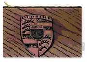 Porsche On Wood Carry-all Pouch